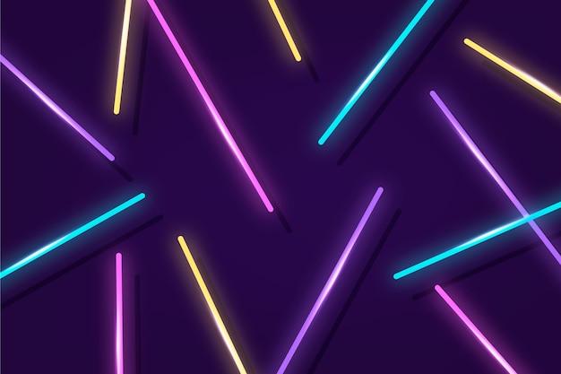 Fundo de luzes de néon brilhante