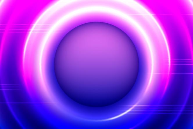 Fundo de luzes de néon com círculos