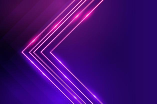 Fundo de luzes de néon de estilo realista