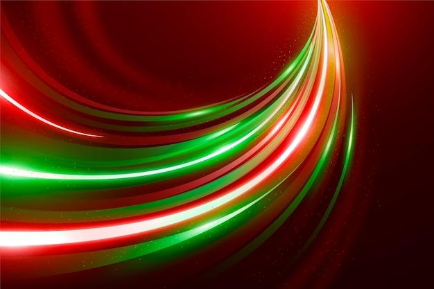 Fundo de luzes de néon de velocidade
