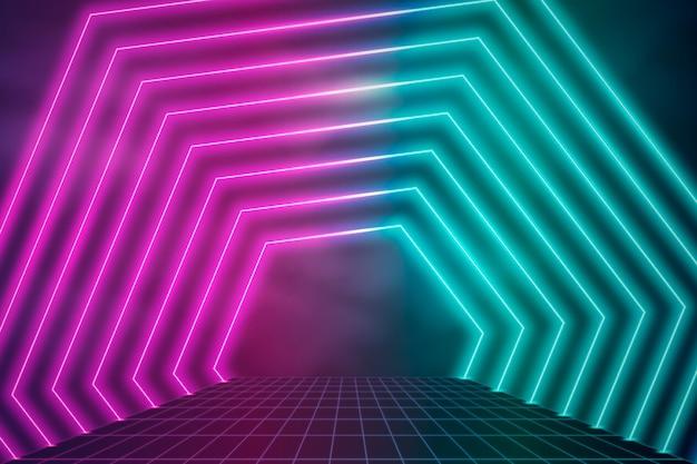 Fundo de luzes de néon