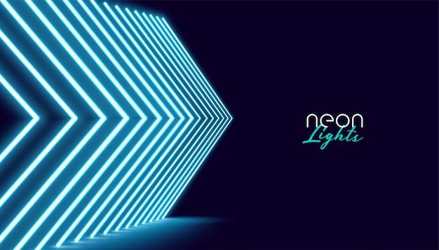 Fundo de luzes de seta direcional neperspective