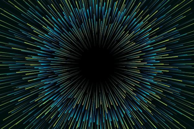 Fundo de luzes de velocidade verde gradiente