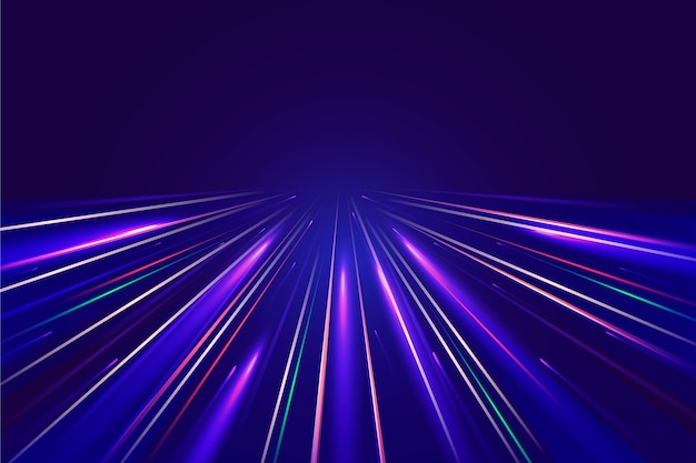 Fundo de luzes de velocidade