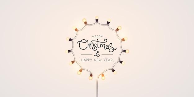 Fundo de luzes do feriado de natal.