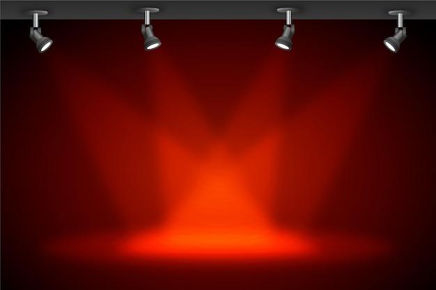 Fundo de luzes do ponto