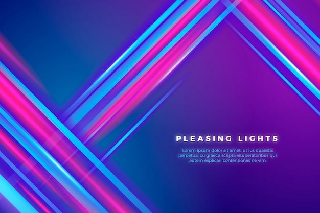 Fundo de luzes e linhas de néon
