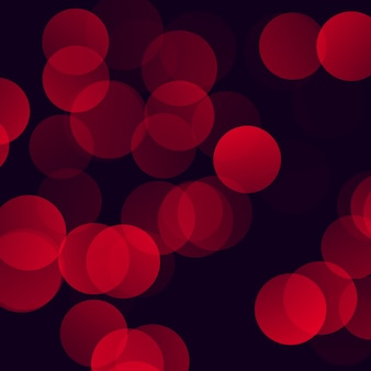 Fundo de luzes vermelhas bokeh