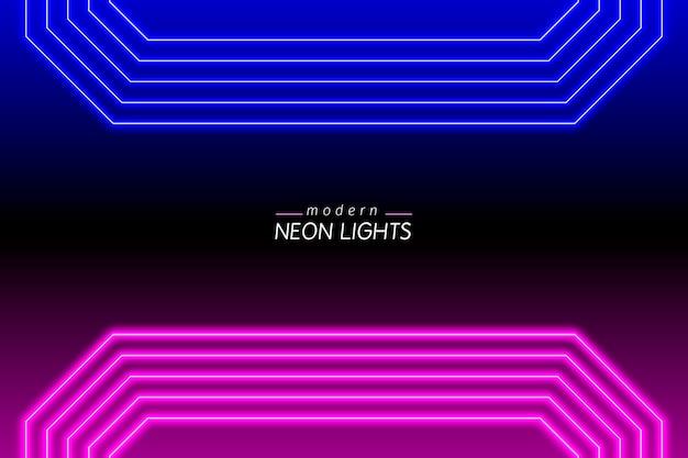 Fundo de luzes vivas de néon