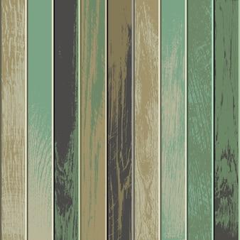 Fundo de madeira vintage com cores velhas e desbotadas
