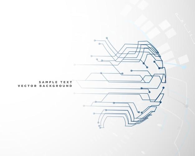 Fundo de malha de arame de circuito digital
