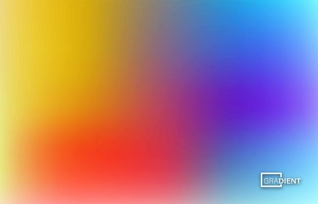 Fundo de malha de gradiente borrado abstrato em cores brilhantes do arco-íris, ilustração vetorial.