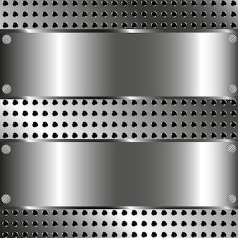 Fundo de malha de metal - ilustração vetorial.