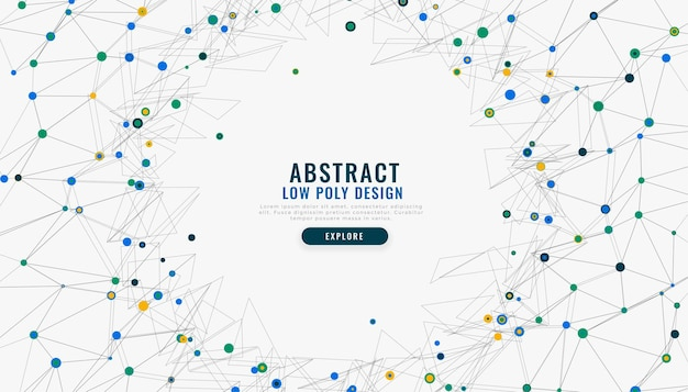 Fundo de malha de rede digital low poly abstrato