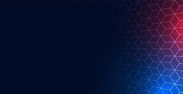 Fundo de malha de rede hexagonal com espaço de texto