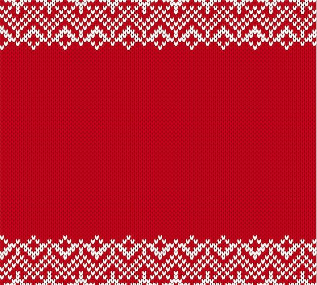 Fundo de malha ornamento com lugar vazio para o texto. tricotar padrão texturizado no estilo justo da ilha.
