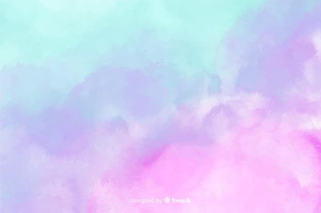 Fundo de mancha em aquarela de cor pastel