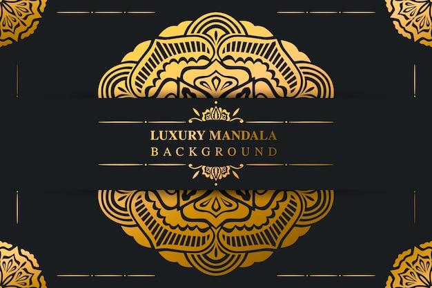 Fundo de mandala árabe de luxo