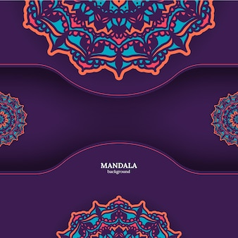 Fundo de mandala colorido ornamental de luxo