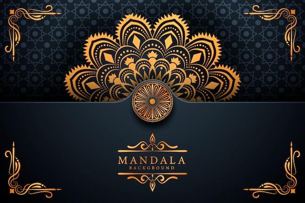 Fundo de mandala de arabesco de luxo criativo
