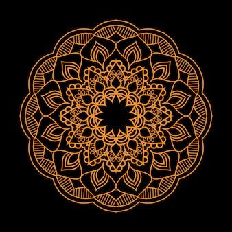 Fundo de mandala de arabesco