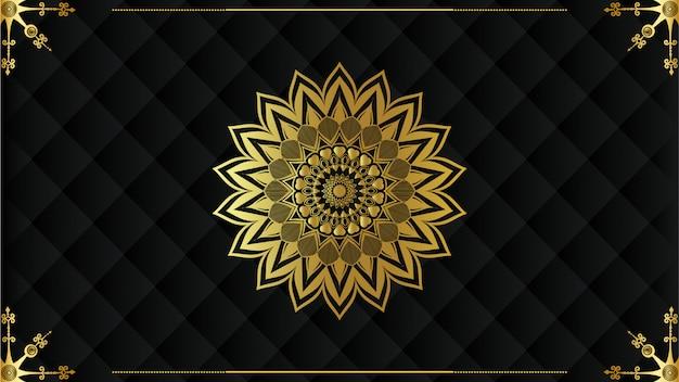 Fundo de mandala de luxo com arabescos