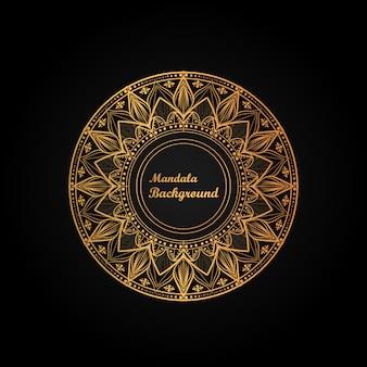 Fundo de mandala de luxo com arte arabesco moderna