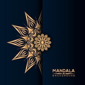 Fundo de mandala de luxo com estilo dourado