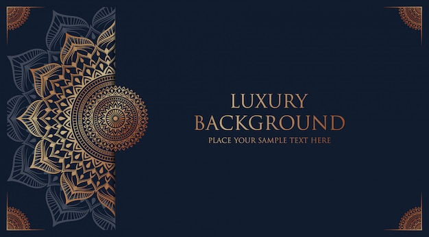 Fundo de mandala de luxo com estilo oriental árabe islâmico árabe de decoração arabesco