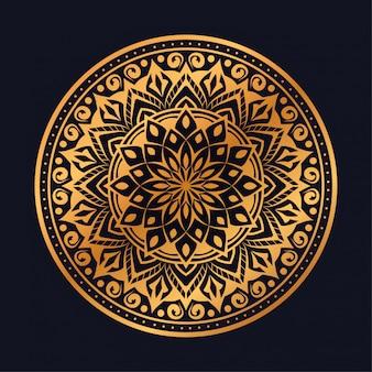 Fundo de mandala de luxo com estilo oriental árabe islâmico árabe de padrão de arabesco