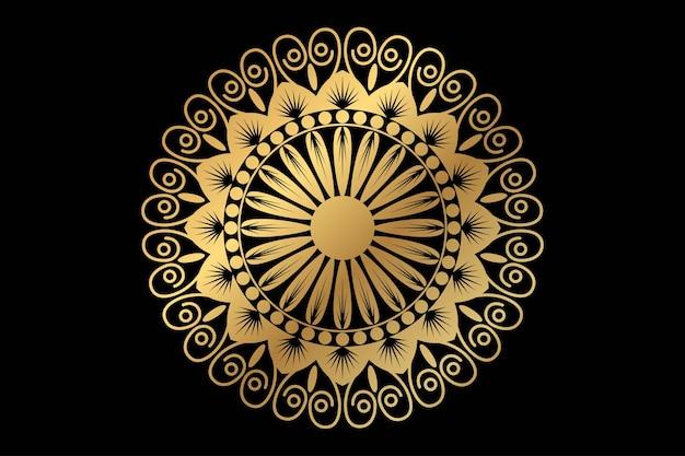 Fundo de mandala de luxo com padrão de arabescos dourados em estilo oriental islâmico árabe