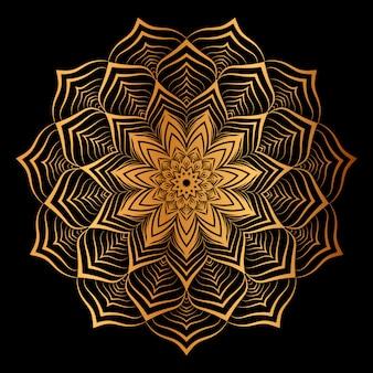 Fundo de mandala de luxo criativo com arabesco dourado