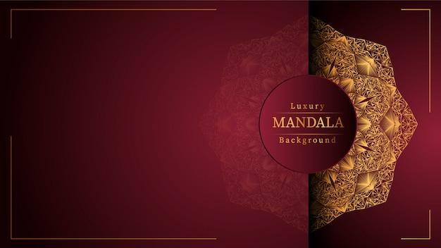 Fundo de mandala de luxo criativo com decoração arabesco dourado