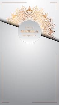 Fundo de mandala de luxo criativo com dourado