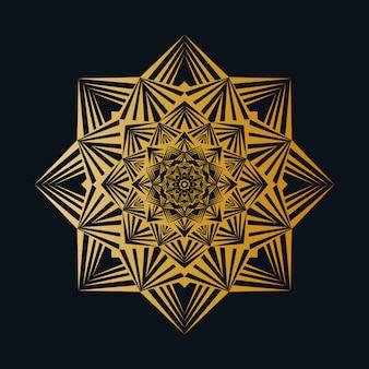 Fundo de mandala de luxo criativo com padrão de arabesco criativo dourado estilo árabe islâmico oriental