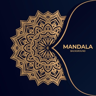 Fundo de mandala de luxo de ornamento