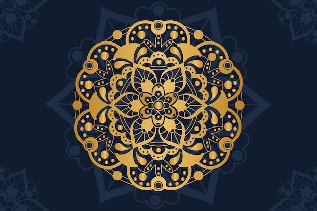 Fundo de mandala de luxo dourado