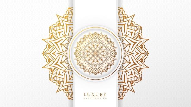 Fundo de mandala de luxo islâmico com estilo padrão