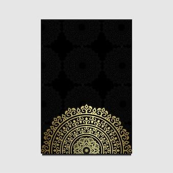 Fundo de mandala de luxo para capa de livro, convite de casamento