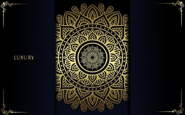 Fundo de mandala de luxo para capa de livro