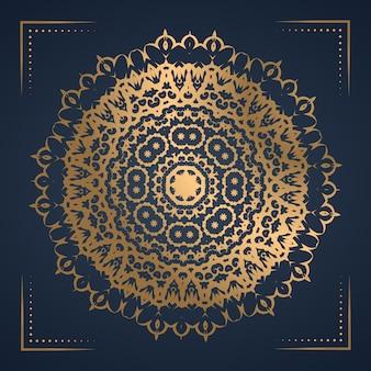 Fundo de mandala de ornamento de luxo