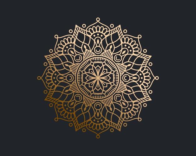 Fundo de mandala de ouro luxo