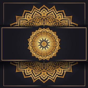 Fundo de mandala de padrão circular luxuoso
