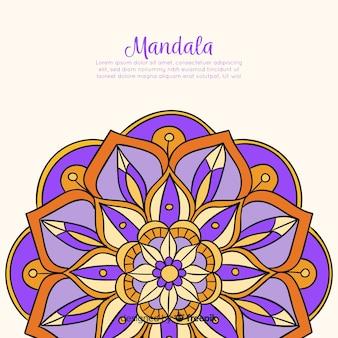 Fundo de mandala decorativa de mão desenhada