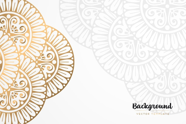 Fundo de mandala dourado vintage
