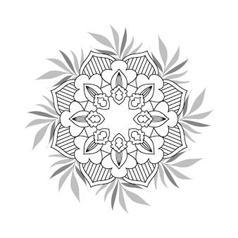 Fundo de mandala floral facilmente editável e redimensionável