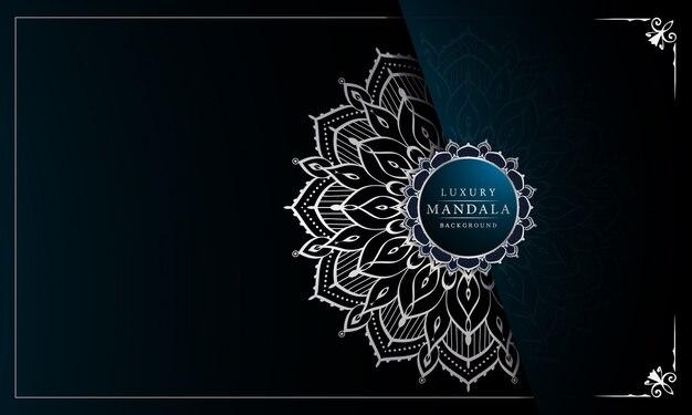 Fundo de mandala ornamental de luxo com decoração árabe de arabesco