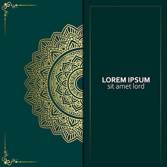 Fundo de mandala ornamental de luxo com vetor premium estilo árabe islâmico padrão oriental