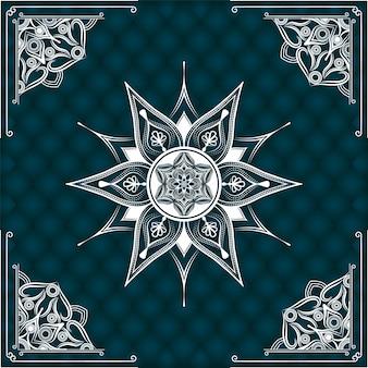 Fundo de mandala ornamental de luxo moderno