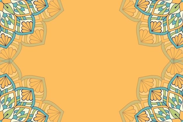 Fundo de mandala ornamental de luxo na cor ouro